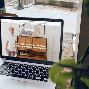 Ecommerce design 1 home page mock up